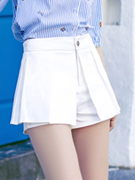 Elegant Pleated Ruffles Shorts