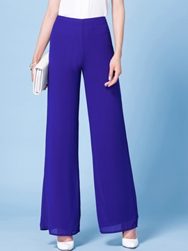 Blue Color Palazzo Formal Pants