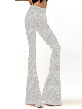 Floral Slim Wide Leg Casual Pants