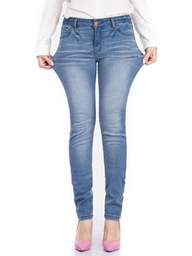 Light Blue Patchwork Denim Jeans