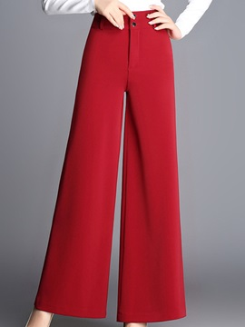 Plain Loose Polyester Thick Casual Pants