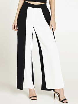 Color Block Wide Legs Pants