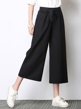 High-Waist Linen Wide Legs Casual Pants