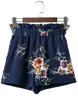 Cotton Loose Embroidery Pocket Shorts