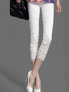 Plain Lace Diamond Leggings