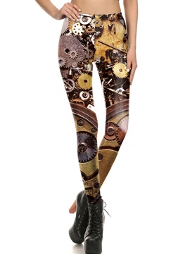 Halloween Patchwork Print Thin Leggings