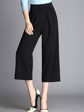 High-Waist Ankle-Length Loose Wide Leg Women's Casual Pants