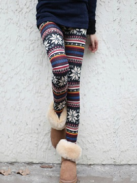 Thick Print Women's Warm Leggings