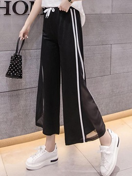 Lace-Up Ankle Length Women's Casual Pants
