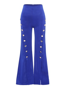 Best Seller Button Split Causal Pants