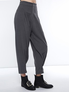 Plain Loose Women's Casual Harem Pants