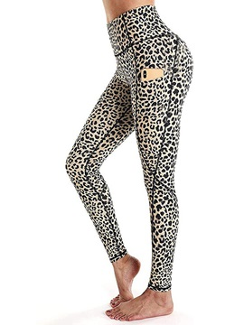 Skinny Print Leopard Pencil Pants Full Length Women's Casual Pants