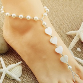 Silver Heart Shaped Anklet