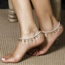 Bohemia Beads with Tassels Anklets ( Price For A Pair )
