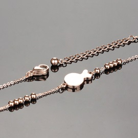 Little Fish Decorated Alloy Anklet