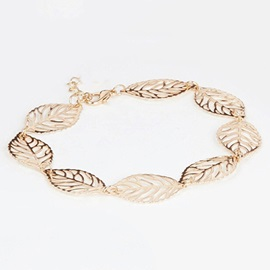 Leaf Shape Women Anklets ( Price for a Pair )