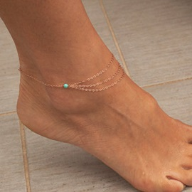 E-plating Multi-layer Women Anklet