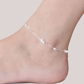 High Quality Silver E-plating Women Anklet