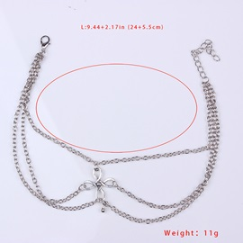 Chinese Knot Decorated Three Row Lucky Anklets