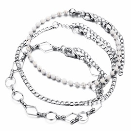Multi Layer Sandals Anklet Chain For Women