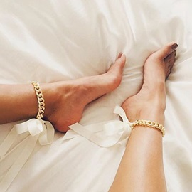 E-Plating Bowknot European Anklets Anklets
