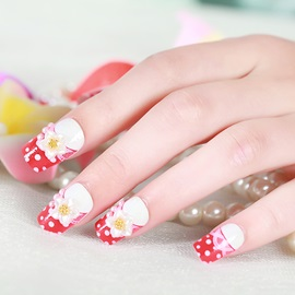 Flowers Decoration Red Nail Art Patch