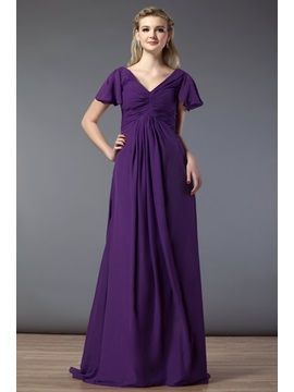 Delicated Ruched A-Line Strapless Empire Waist Floor-Length Bridesmaid Dress