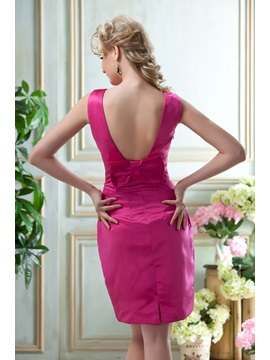 Graceful A-Line Bateau Neckline Knee-Length Bridesmaid Dress