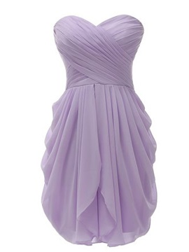 High Quality Sweetheart Draped Short Bridesmaid Dress