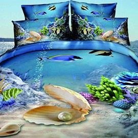 Sea World Image 4-Piece Bedding Sets