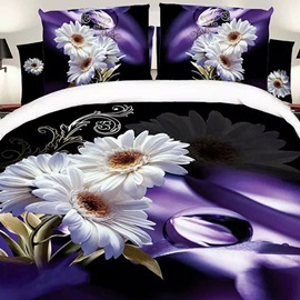 Beautiful African Daisy 4 Piece Bedding Sets