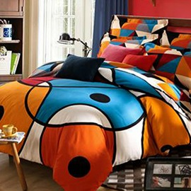 Wannaus Modern Style Abstract Pattern 4-Piece Duvet Cover Sets