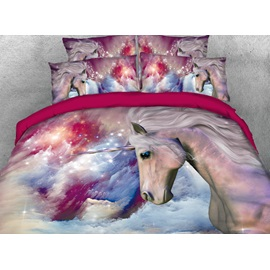 Galaxy and Unicorn Printed 4-Piece 3D Bedding Sets/Duvet Covers