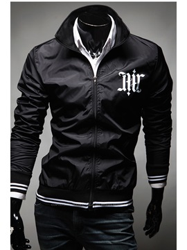 Stand Collar Zip-Front Jacket