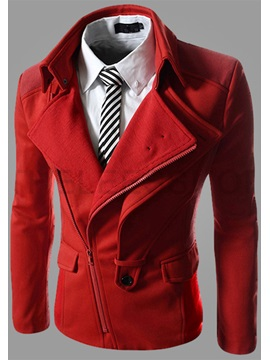 Twin Lapel Long Sleeve Zip-Front Jacket