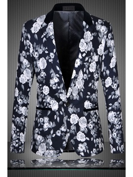 Long Sleeve Shawl Collar Blazer