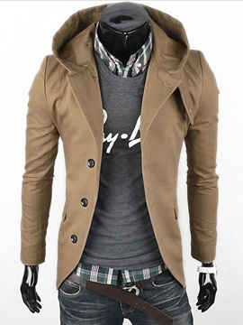 Fashion Solid Long Sleeve Men Coat