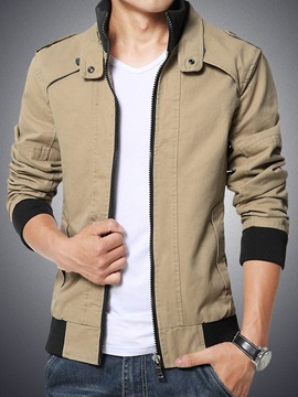 Men's Highneck Zip Up Jacket