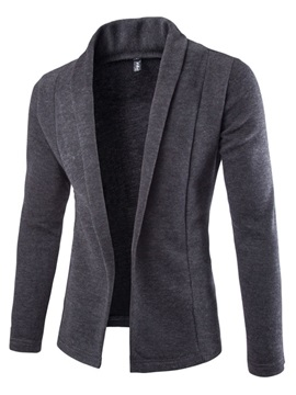 V-Neck Solid Color Men's Knit Cardigan Coats