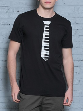 Piano Key Printed Short Sleeve Men's Tee