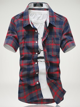 Multi-Color Short Sleeve Men's Casual Shirt