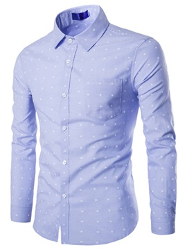 Oxford Star Printed Men's Long Sleeve Shirt