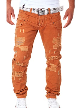 Plain Relaxed Fit Men's Overall Pants