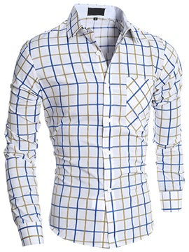 Gridding Casual Men's Loose Fit Shirt