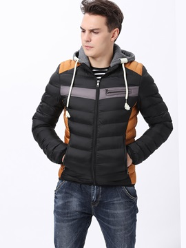 Cotton Hood With Drawstring Men's Coat
