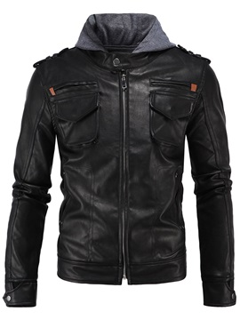 Zip Front Vogue Men's PU Jacket