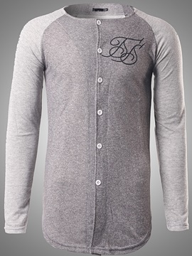 Single-Breasted Men's Cotton Blends Hoodie