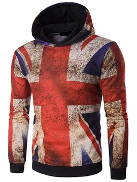 National Flag Casual Men's Long Sleeve Hoodie
