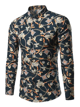 Floral Printed Slim Fit Men's Vogue Shirt