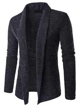 Turn Down Collar Solid Color Men's Cardigan Sweater
